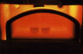 Magnesia Cupels in oven