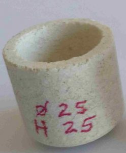 Gold annealing crucibles 25 x 25