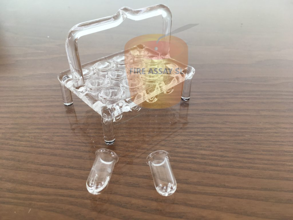 Quartz Parting & annealing baskets for 12 samples – QBR-12