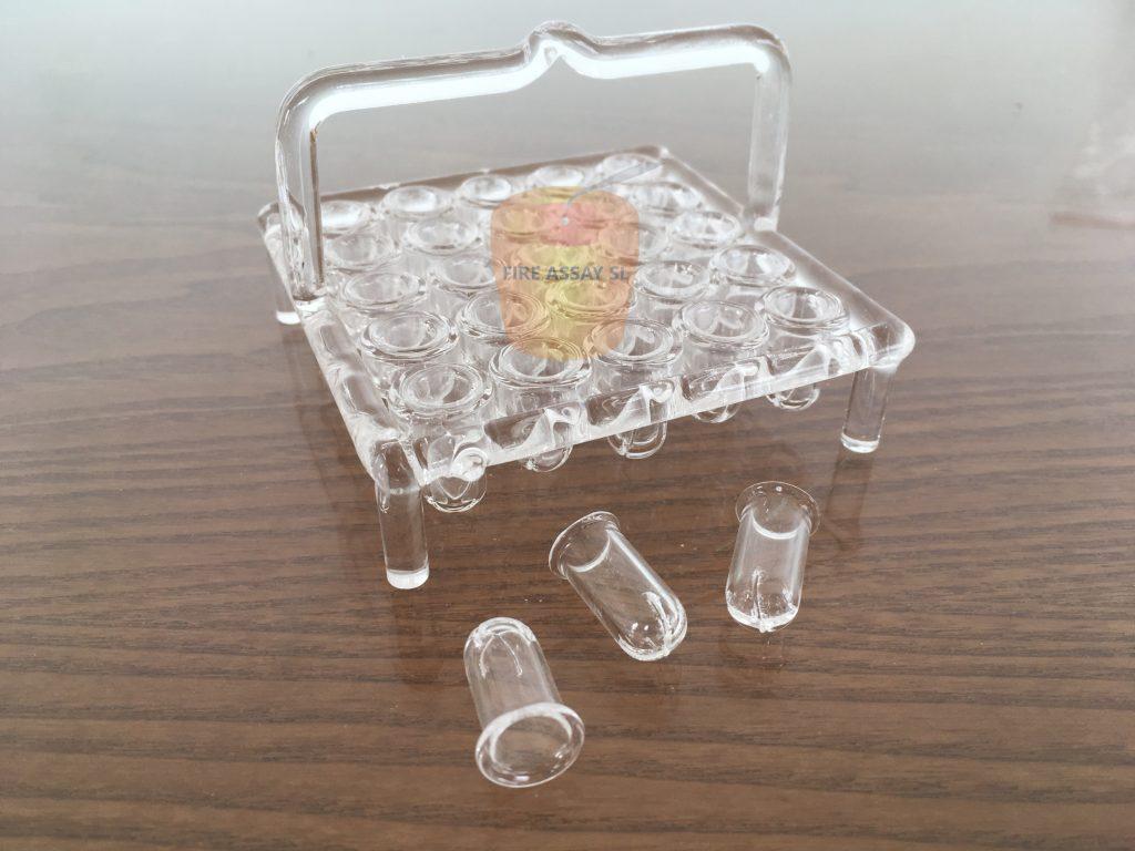 Quartz Parting & annealing baskets for 25 samples – QBR-25