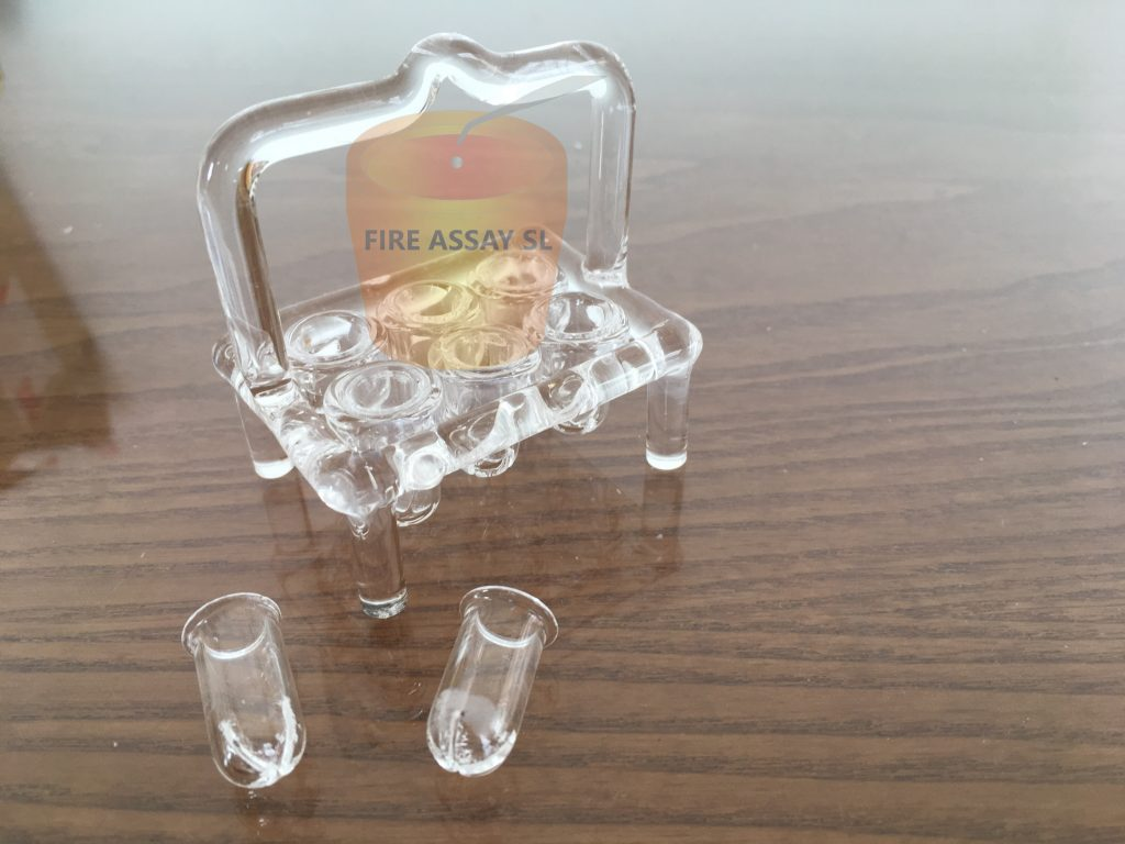 Quartz Parting & annealing baskets for 6 samples – QBR-6