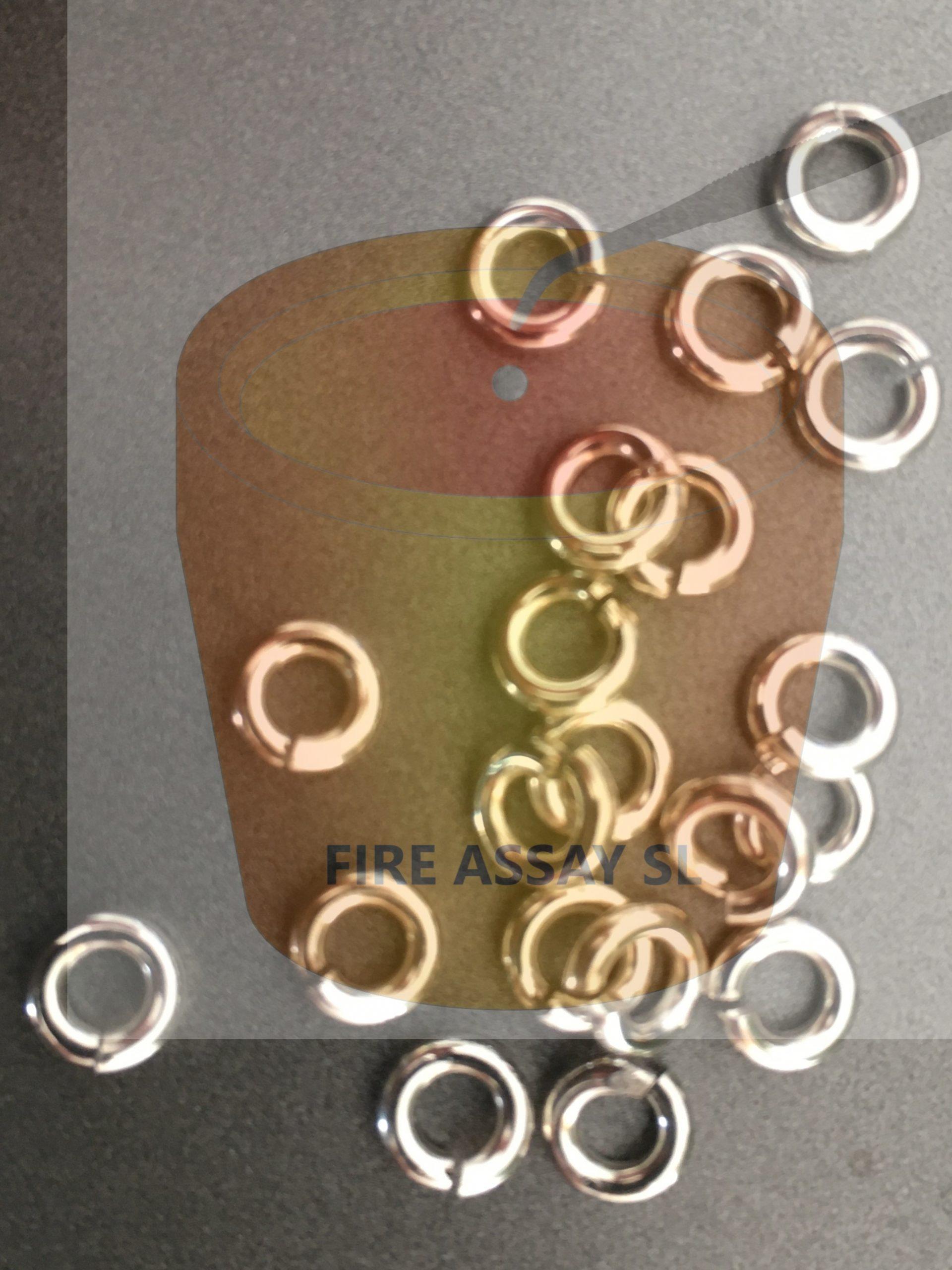 200mg Birefined Silver Inquarts for cupellation
