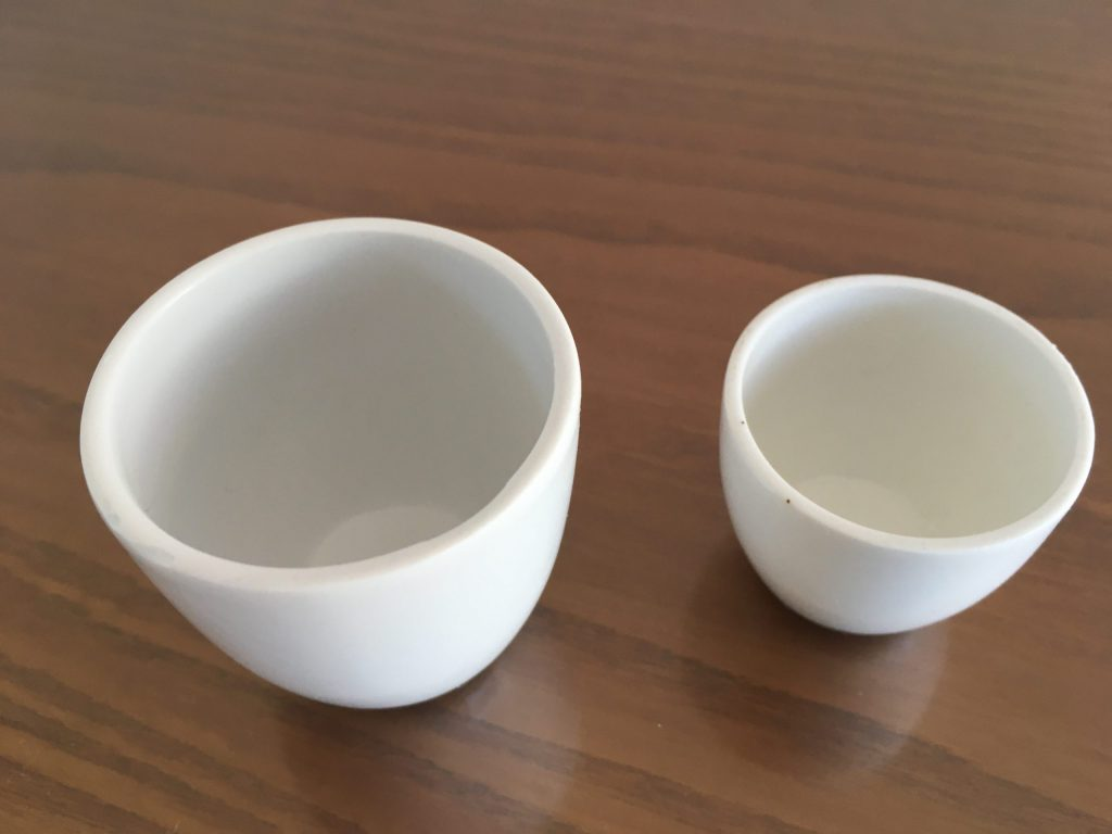PORCELAIN CRUCIBLE FOR PARTING AND ANNEALING ACCORDING TO ISO 10378